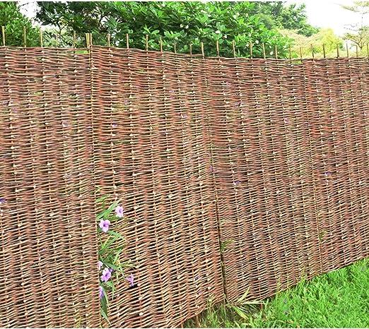 Valla de protección para jardín de Panana, rollos de sauce de protección, rejilla para exteriores de jardín natural de 1, 8 m: Amazon.es: Jardín