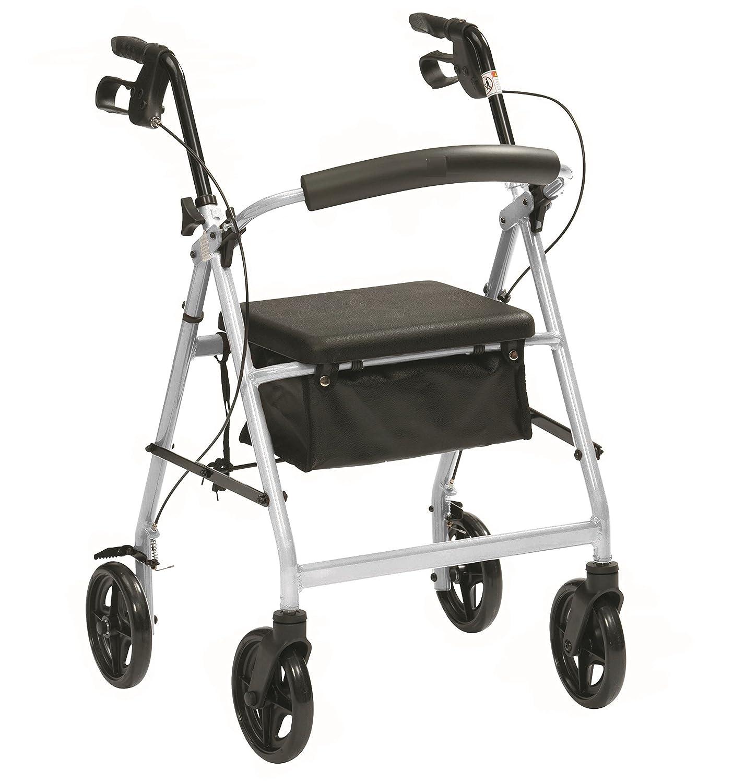Ultraleichte Aluminium-Klapp Rollator mit Sitz und Bremsen von Fenetic Wellbeing
