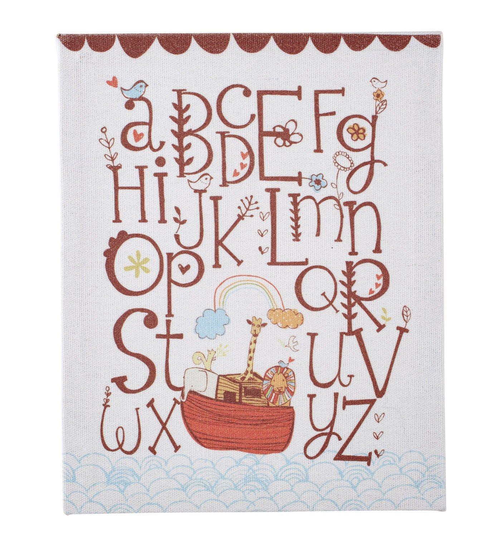 Faithworks Gifts of Faith Framed Canvas Wall Art 8 x 10-Inches Alphabet Ark