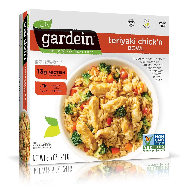 Gardein Single-Serve Teriyaki Plant-Based Chick'n Bowl, Vegan, Frozen, 8.5 oz.