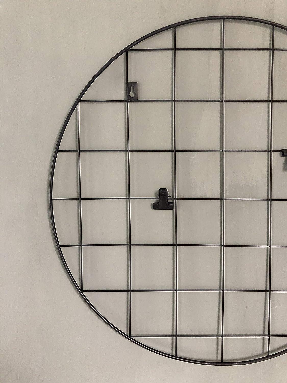 NIKKY HOME Grille de Fer Ronde Ins Panneau pour /écran Suspendu Photo et Organisateur de d/écoration Murale Bricolage Memo Board 51X1.5X51cm Noir