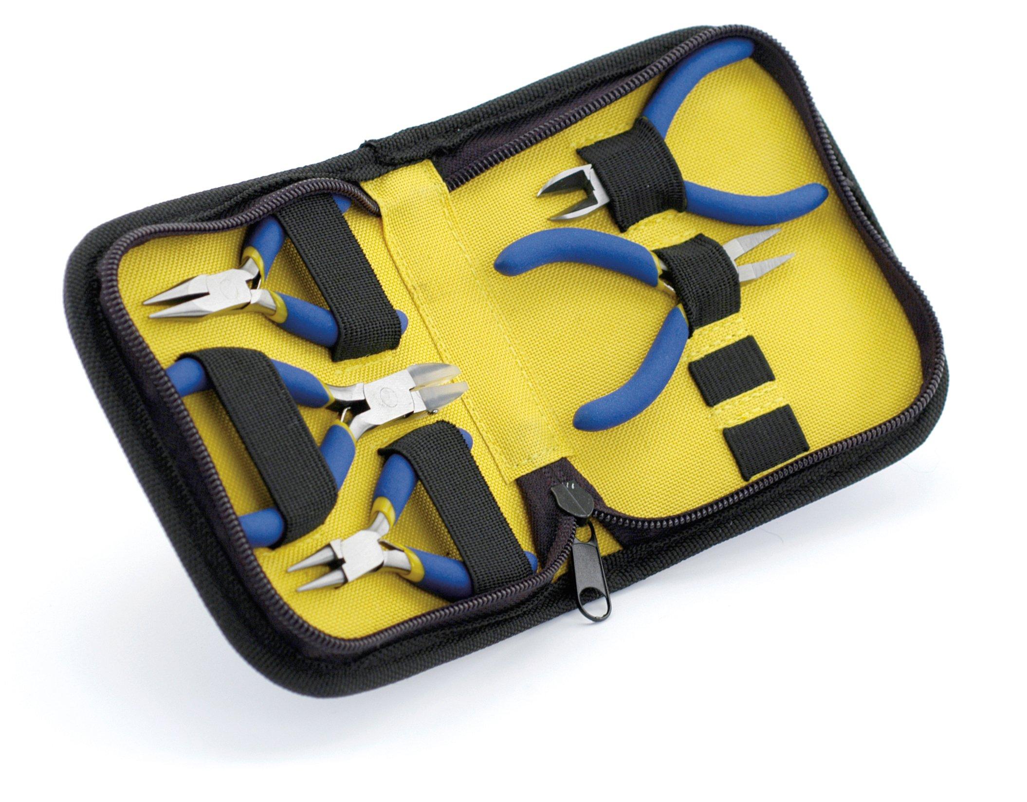 Beadalon 203K-050 5-Piece Mini Zip Pouch Tool Kit