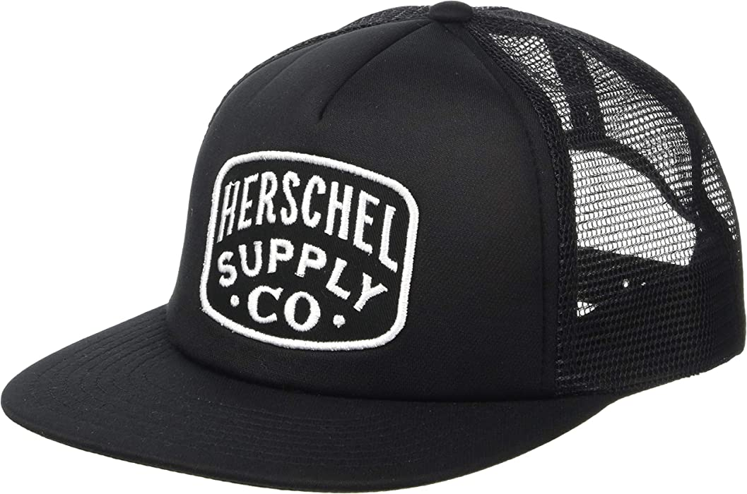 99840b05 Herschel Supply Co. Men's Whaler Mesh Patch, Black, One Size at ...