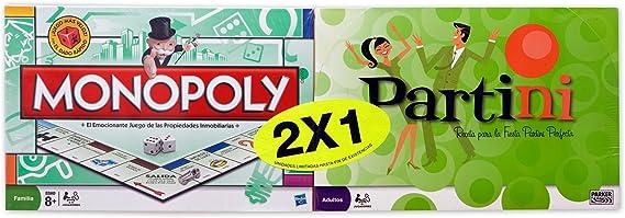 Hasbro Juegos en Familia Monopoly Std + Partini A1680500: Amazon.es: Juguetes y juegos