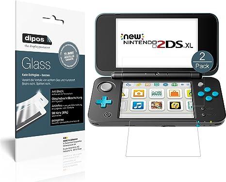 dipos I 2X Protector de Pantalla Mate Compatible con Nintendo 2DS XL Vidrio Flexible Cristal Proteccion 9H: Amazon.es: Electrónica