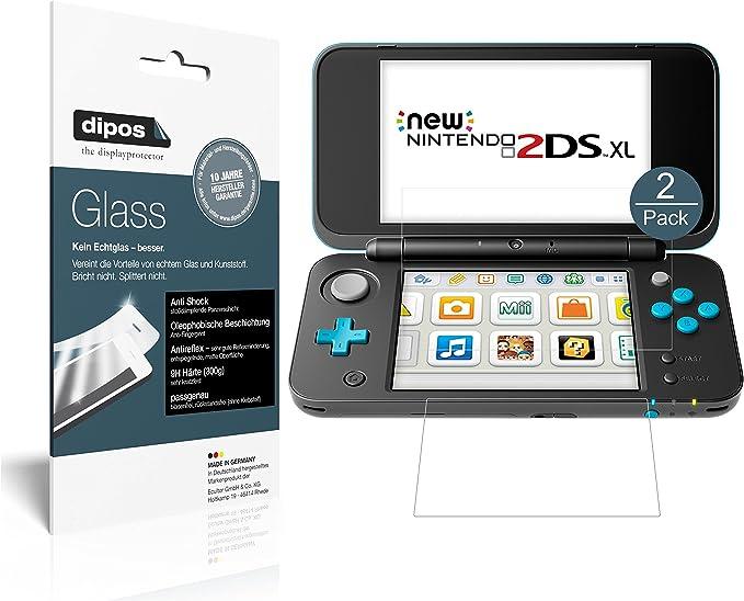 dipos I 2X Protector de Pantalla Mate Compatible con Nintendo 2DS ...