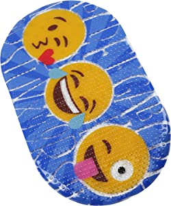 FOMI Bath Decor Kids Bathroom Mat | Emoji Mat for Tiled Bathroom Walls, Floor, Shower, and Tub | Decorative Plastic Mat for Toddlers, Children, Boys, Girls | Suction Backed