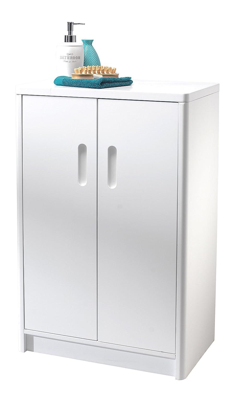 Showerdrape Westbury  Freestanding Matt White Double Door Bathroom Cabinet:  Amazon.co.uk: Kitchen U0026 Home