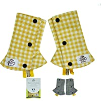Reversible Drool Pads Baby Carrier Straps Washable Cover Infants Toddlers Teething Suck Chew with Toy Tags Premium Soft…