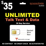 Unlimited Talk Text And Data SIM Card 30 Day Service