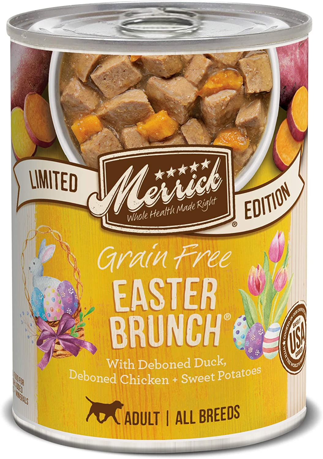 Merrick Spring Seasonals Easter Brunch For Pets Pack Of 12 , 12.7 Oz.