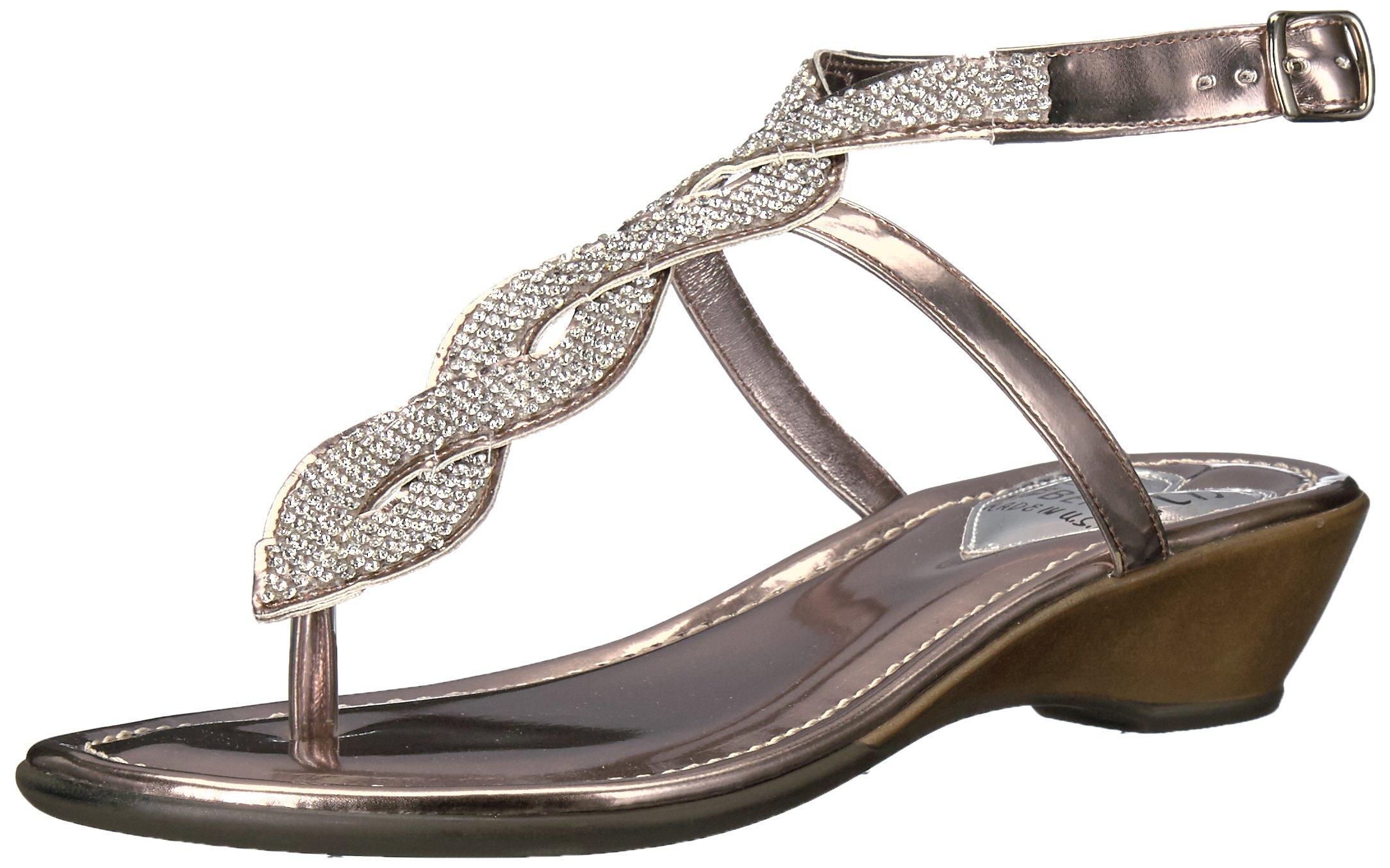 Love & Liberty Women's Sapphire-Ll Dress Sandal, Pewter, 7 M US