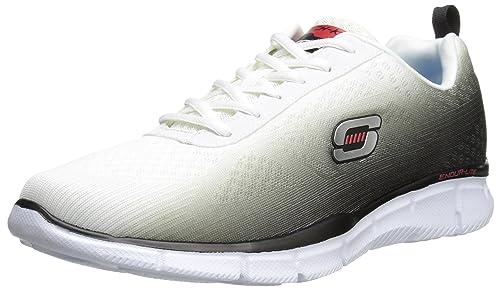 Skechers Equalizer This Way - Zapatillas de sintético para hombre, bianco (Wbk), 39 EU: Amazon.es: Zapatos y complementos