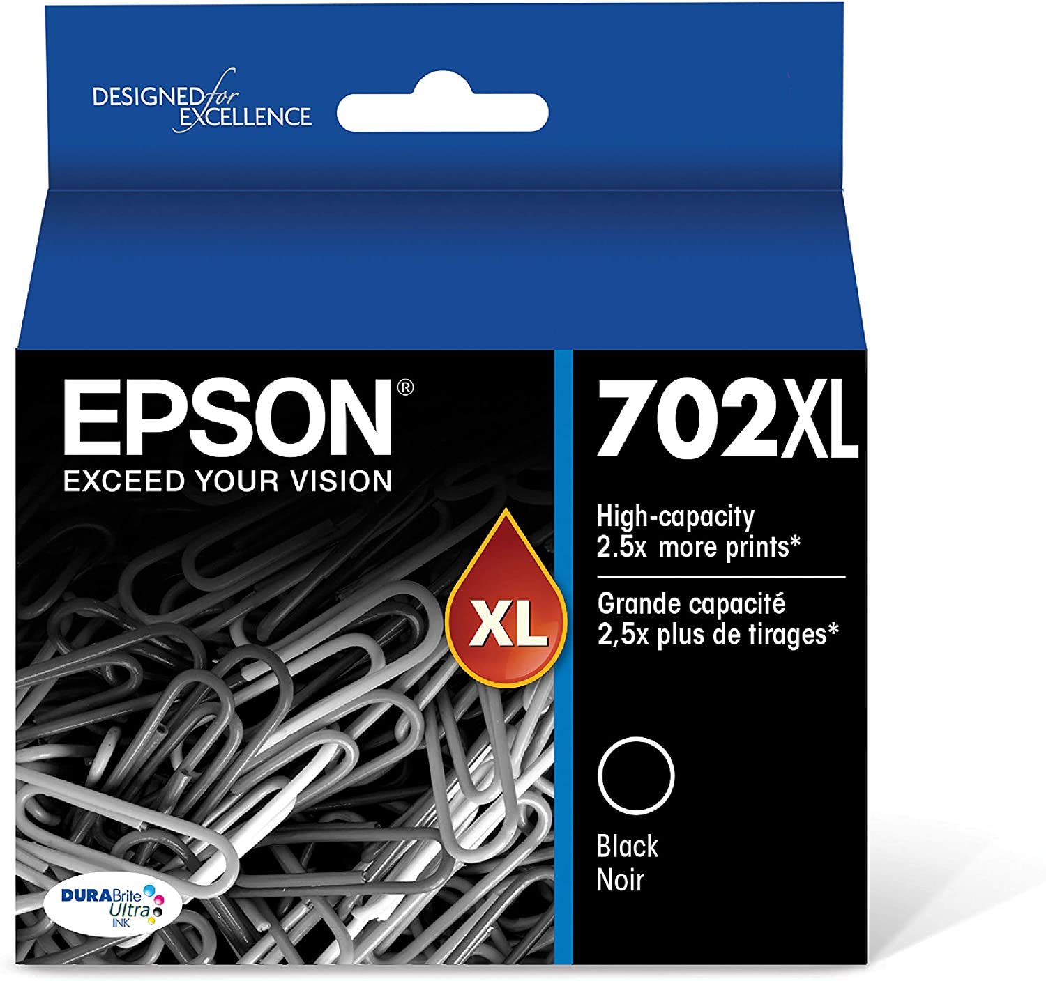 Epson T702XL120-S DURABrite Ultra Black High Capacity Cartridge Ink: Office Products