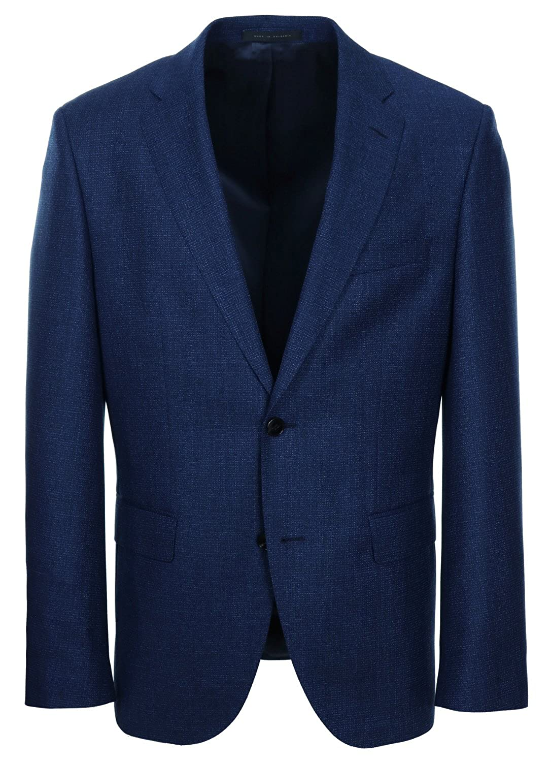 4c1faac3d Amazon.com: Hugo Boss Men's Johnstons/Lenon Trim Fit Blue Mix Suit - 42L  Jacket - 36 Pant: Clothing
