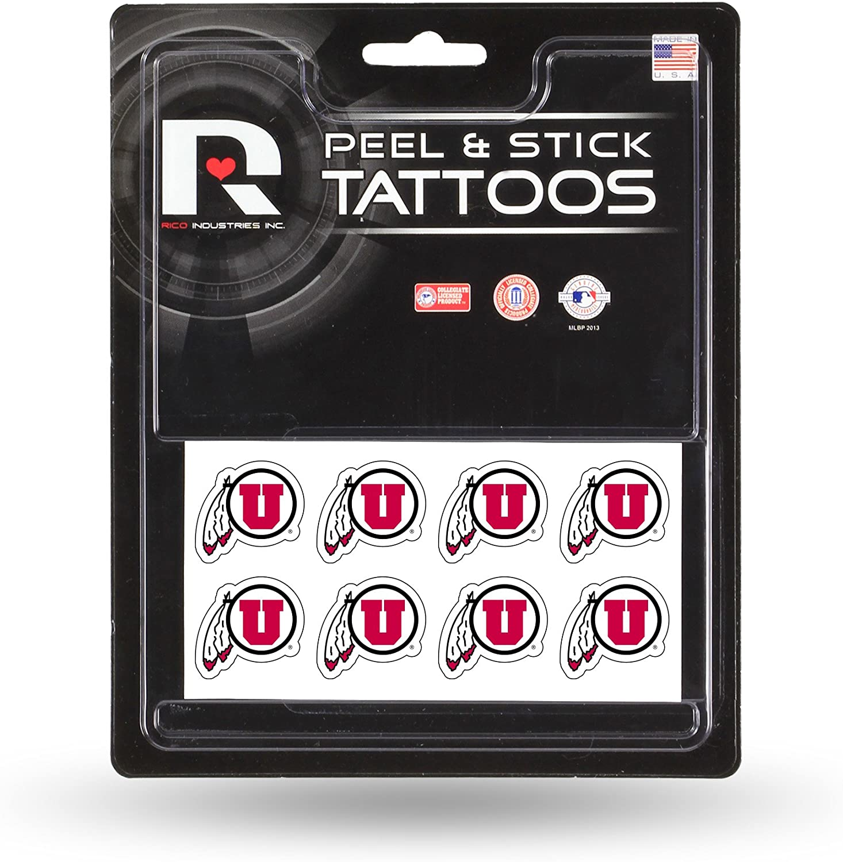 NCAA Rico Industries Face Tattoos, 8-Piece Set, Georgia Bulldogs : Sports Fan Decals : Clothing