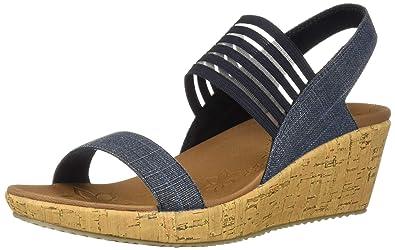 58e536554890 Skechers Women s Beverlee-Smitten Kitten Wedge Sandal