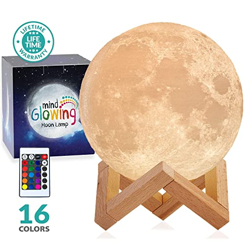 3D Moon Lamp - Rechargeable Night Light