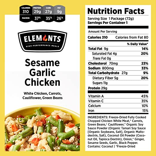 Elements Food 5 Pack Variety Kit Balsamic Chicken Pomodoro