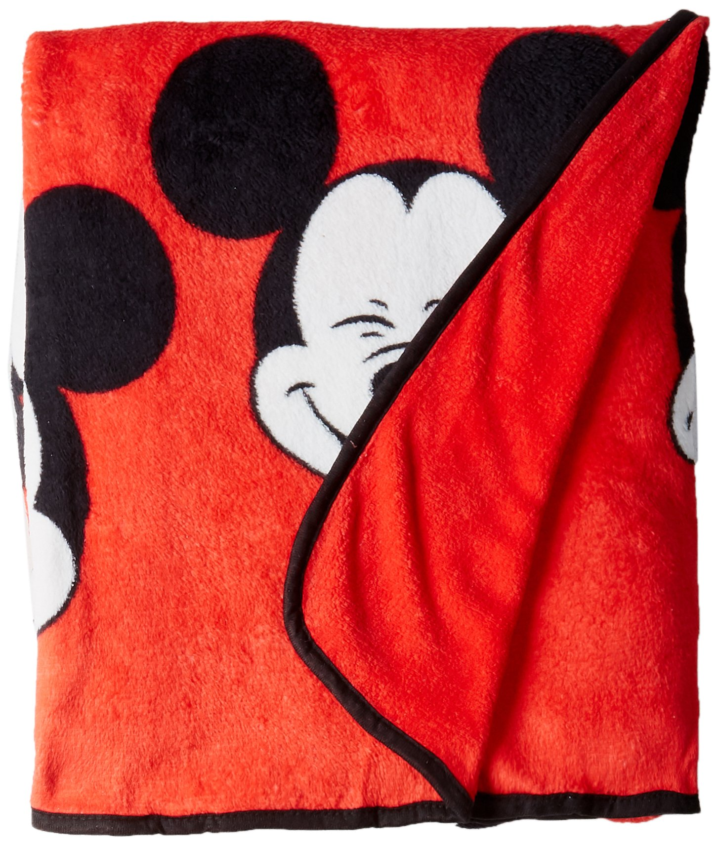 Jay Franco Plush Mickey Mouse Measures 62 x 90 inches, Kids Bedding-Fade Resistant Super Soft Fleece-(Official Disney Product), 100% Polyester, Faces Twin Blanket by Jay Franco