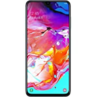 Samsung Galaxy A70 Smartphone (17.0cm (6.7 Zoll) 128GB interner Speicher, 6GB RAM, Dual Sim, Black) - Deutsche Version