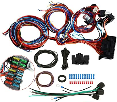 [SCHEMATICS_48IU]  Amazon.com: 20 Circuit Wiring Wire Harness Kit 12v for Mini Fuse Chev Ford  Hotrods Universal X-long Wires New: Automotive | Ford Wiring Harness Kits |  | Amazon.com