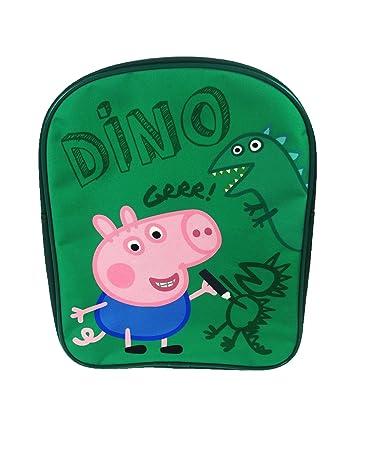 Amazon.com: George Pig Dino PV Mochila Bolsa Escuela Verde ...