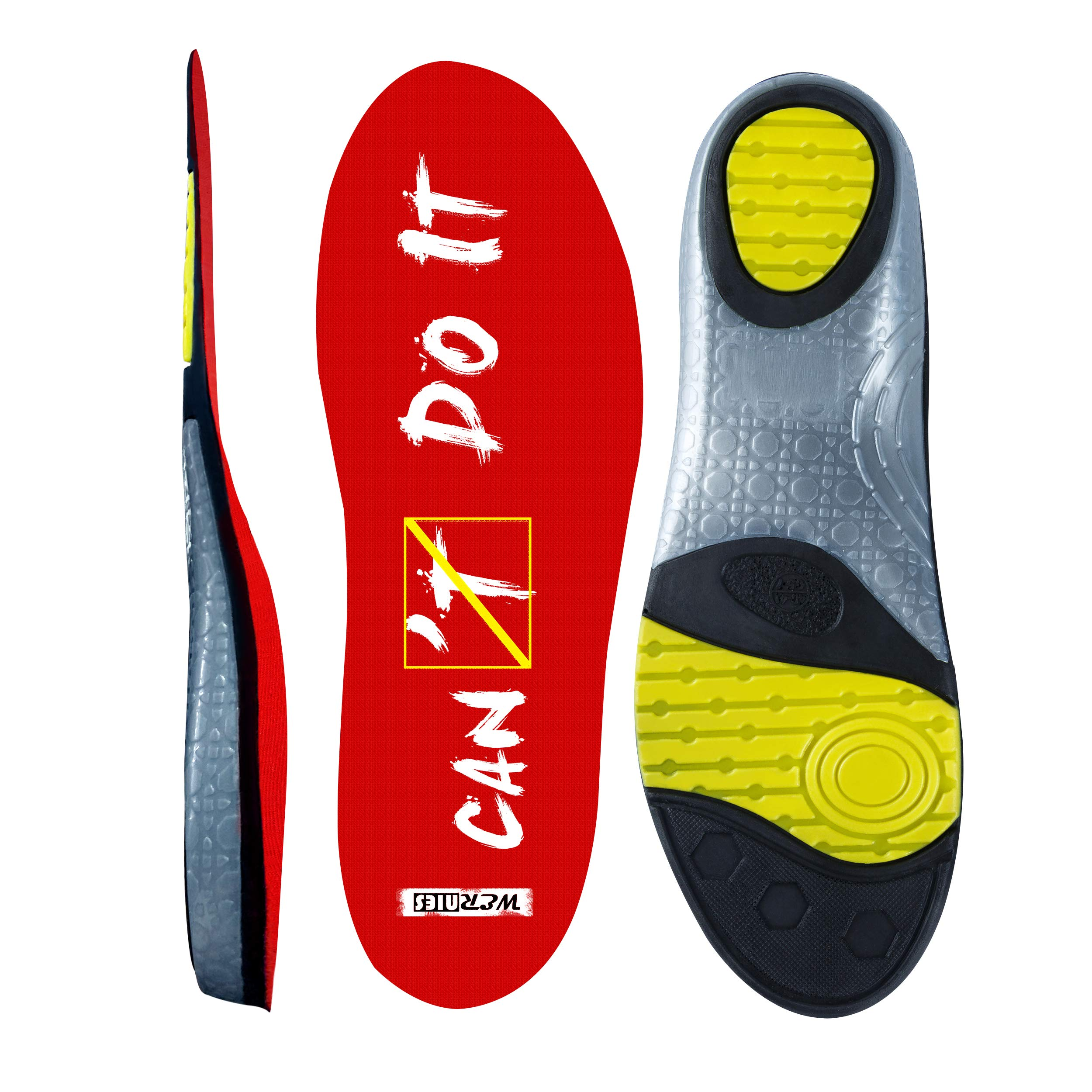 wernies Running Shoe Insoles for Women Neutral Arch Support Insert Replacement Sports Shoe Inserts for Men Plantar Fasciitis Inserts Flat Feet Insoles for Mens Work Insoles for Men, Sneaker Insert