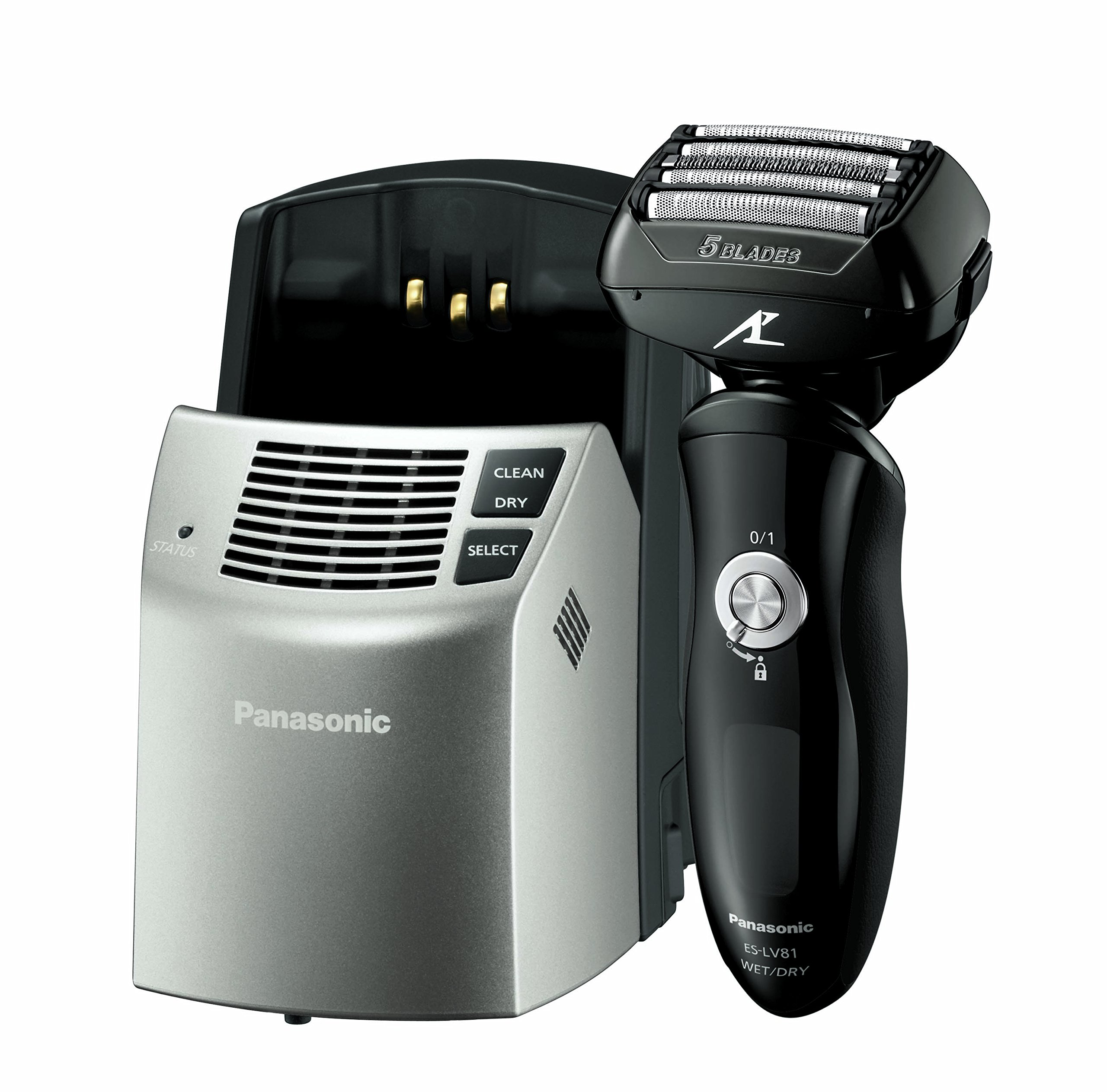 Panasonic ES-LV81-K Arc5 Men's Electric Razor, Wet/Dry with Multi-Flex Pivoting Head, High-Performance Motor, and included Premium Automatic Clean & Charge Station