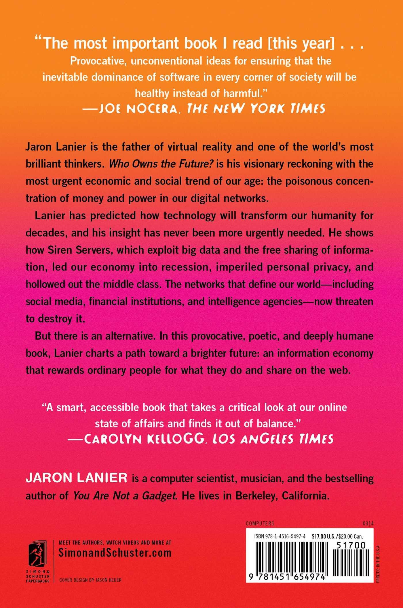Who Owns the Future?: Amazon.es: Jaron Lanier: Libros en ...