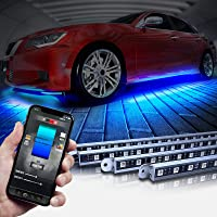 OPT7 Aura Pro Underglow for Car Aluminum, Bluetooth APP Control LED exterior underbody Lighting Kit, Neon Accent Bar…