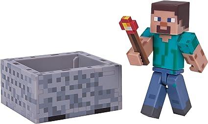 Minecraft Steve Figura de acción de Juguete Adultos y niños - FiFiguras de acción y colleccionables (Figura de acción de Juguete, Multicolor, Videojuego, Adultos y niños,, Steve): Amazon.es: Juguetes y juegos