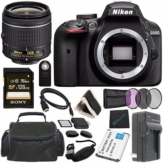 Amazon.com: Nikon D3400 Cámara réflex digital con AF-P 18 ...