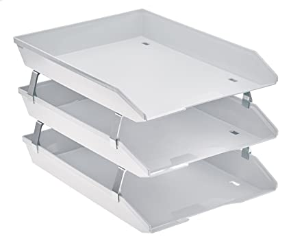 Acrimet Facility 3 Tiers Triple Letter Tray Frontal (White Color)