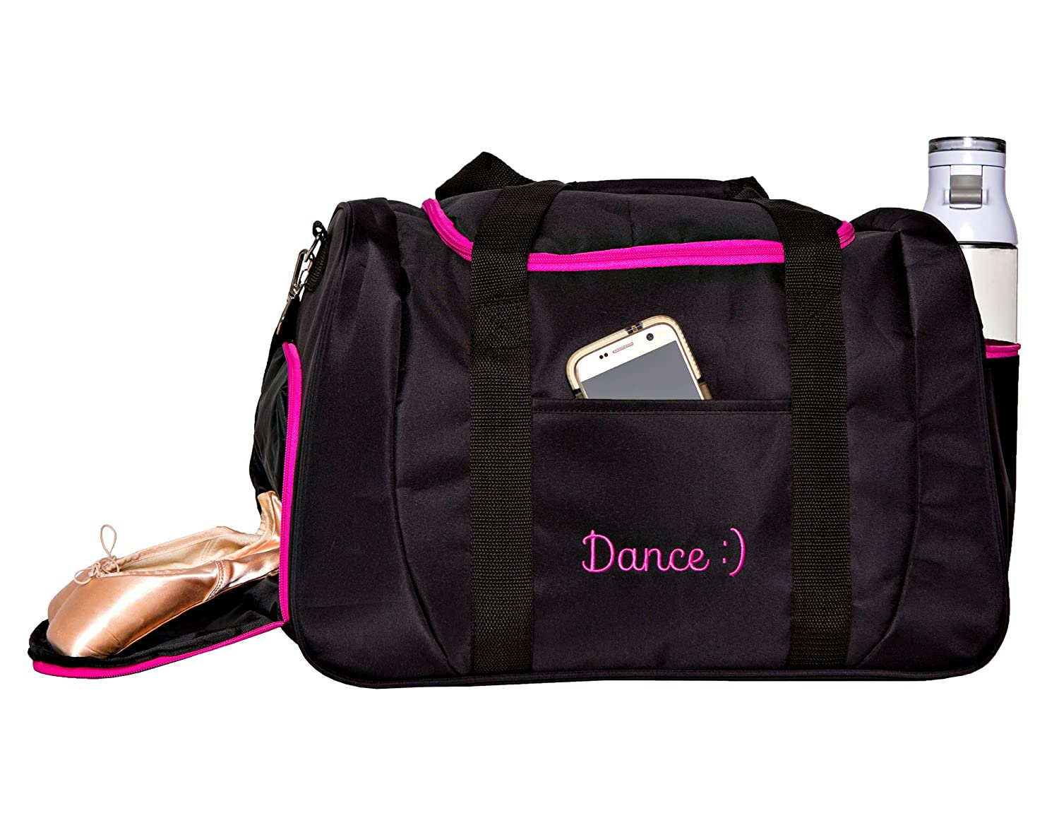 bc265b0149ee Horizon Dance 1064 Smiley Medium-Large Dance Duffel Bag with Shoe  Compartment