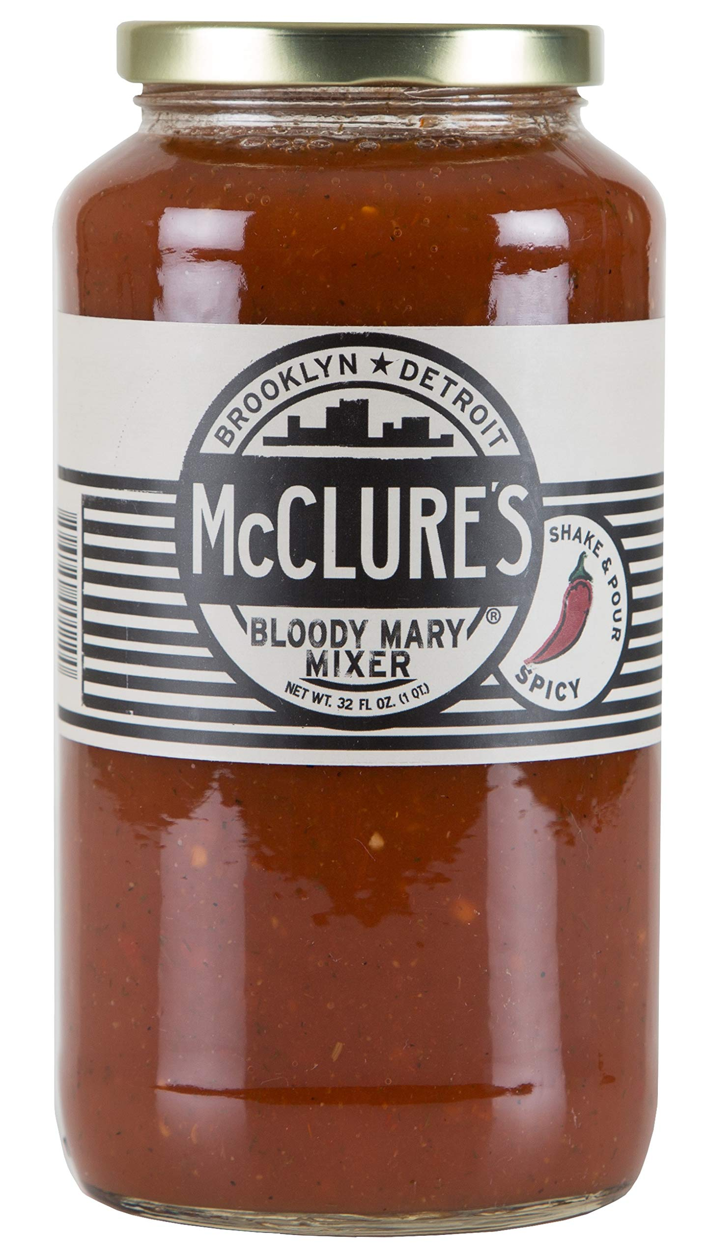 McClure's Bloody Mary Mix (Non-Alcoholic) - 32 oz, Pack of Twelve