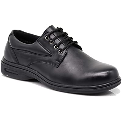 New FINN Mens Black Oil Resistant Professional Restaurant Anti Slip Restaurant Rubber Air Sole Working Comfy Industrial Shoes (8.5, Finn 04): Shoes