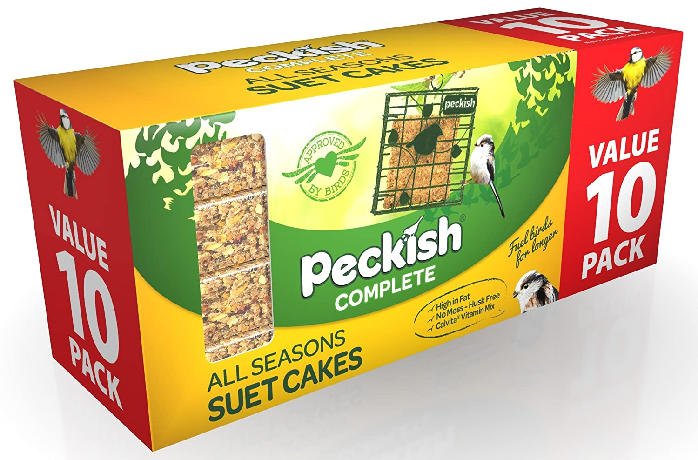 Peckish complète Bloc de gâteau de suif Oiseaux Sauvages Complet Toute Saison Pack of 10 Red/Purple/Brown Westland 60052016