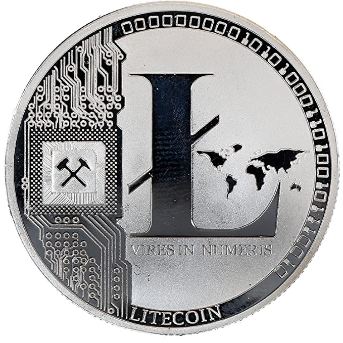 Amazon.com: Litecoin cryptocurrency chapado en plata de ...