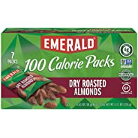 Emerald Nuts, Dry Roasted Almonds 100 Calorie Packs, 0.63 Ounce, 7 Count (Pack of 12)
