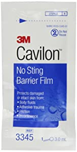 3M Cavilon No Sting Barrier Film 3345, 25 Applicators
