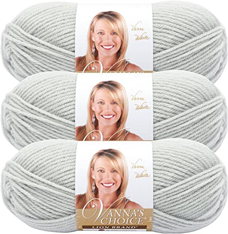 Pale Grey Lion Brand Yarn Lion Brand 860-150 Vanna/'s Choice Yarn
