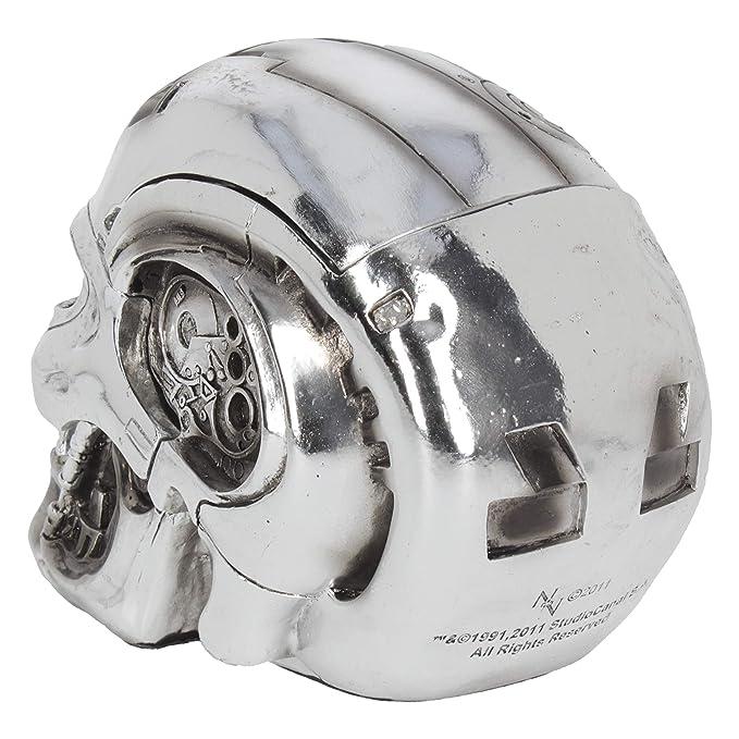 Nemesis Now T-Terminator - Caja de Resina (16,2 cm), Color Plateado