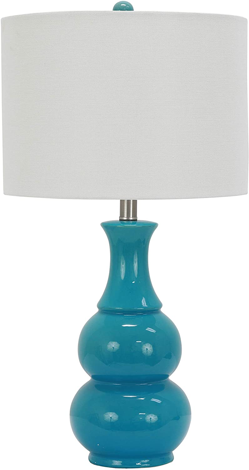 Décor Therapy TL17303 Table Lamp, 14x14x26.5, Teal