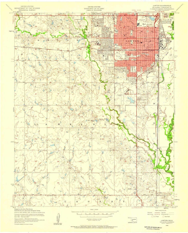 Amazon.com : YellowMaps Lawton OK topo map, 1:24000 Scale ...