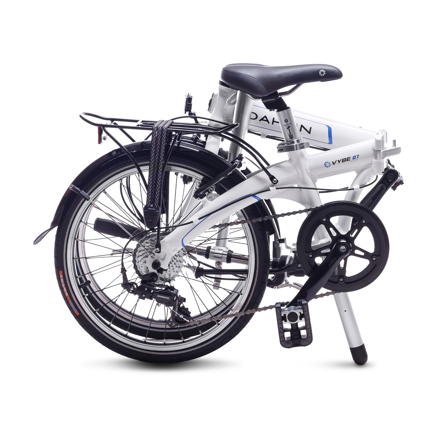 Dahon Vybe D7 Bicicleta Plegable, Unisex Adulto, Blanco Cloud, 20