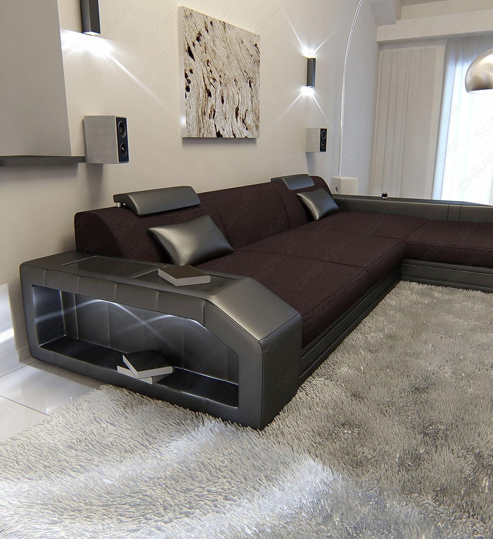 Amazon.com: Moderno tela sofá PRATO LED l Shaped: Kitchen ...