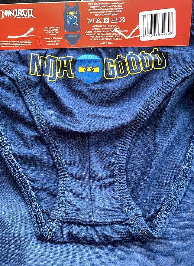 TVM Europe GmbH Lego Ninjago Unterw/äsche Set Jungen Grau meliert Ninja Goooo Unterhose Unterhemd Gr.104 116 128 140
