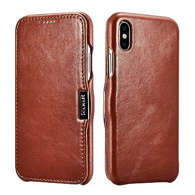 Icarer iPhone XS X Leather Case dbbaee0941