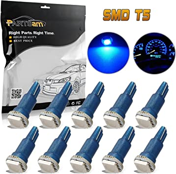 Ultra Bright High Power SMD Blue 3528 LED Neo-Wedge Light Bulbs T3-10 pcs